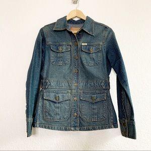 Levi's Medium Wash Denim Blazer Button Up Jacket